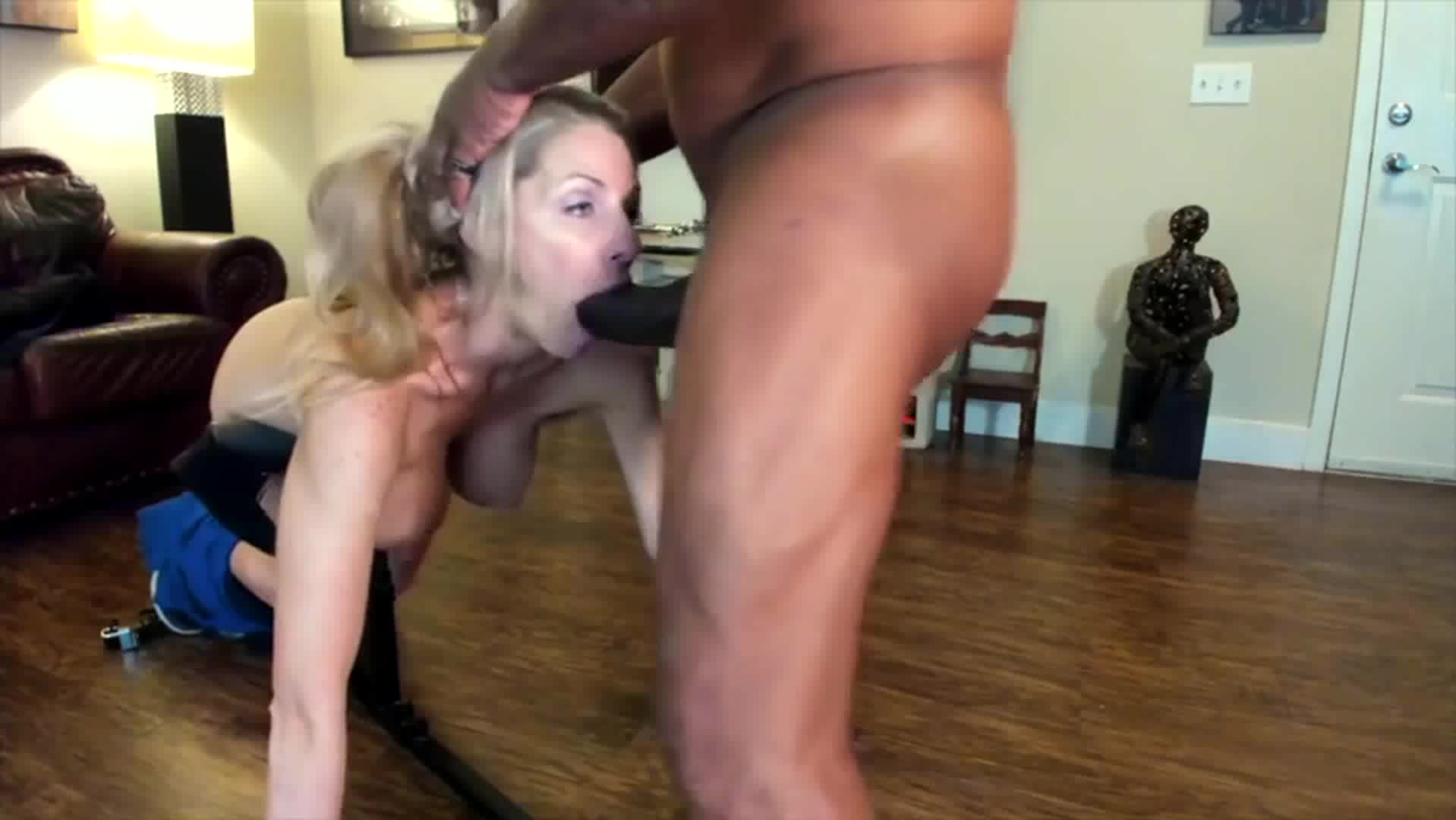 I love it when your Mom chokes on my big black cock