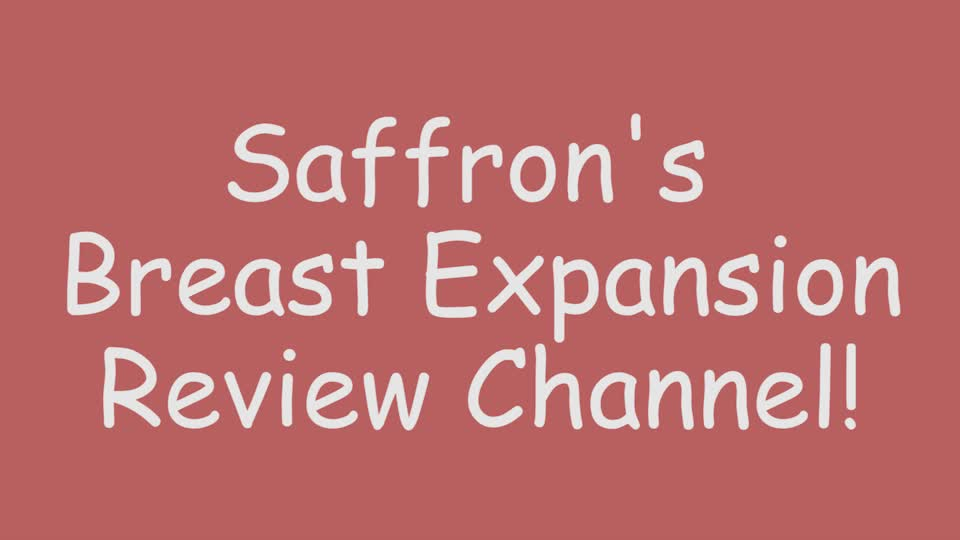 Big Boob Lotion Needs Orgasms to Work!   Saffron's Breast Expansion Show! [New Members' Video!] :)