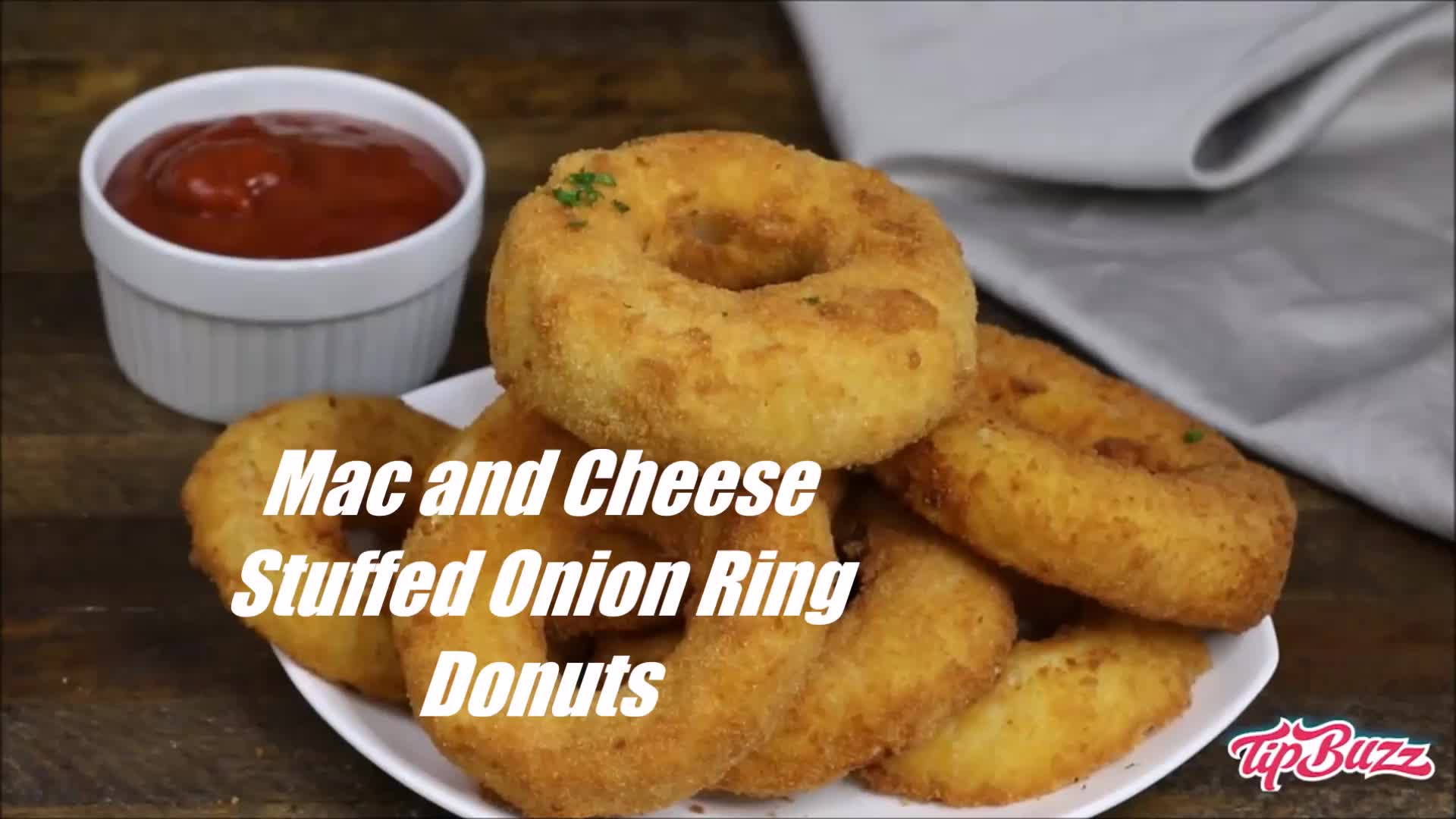 Mac and Cheese Stuffed Onion Ring Donuts