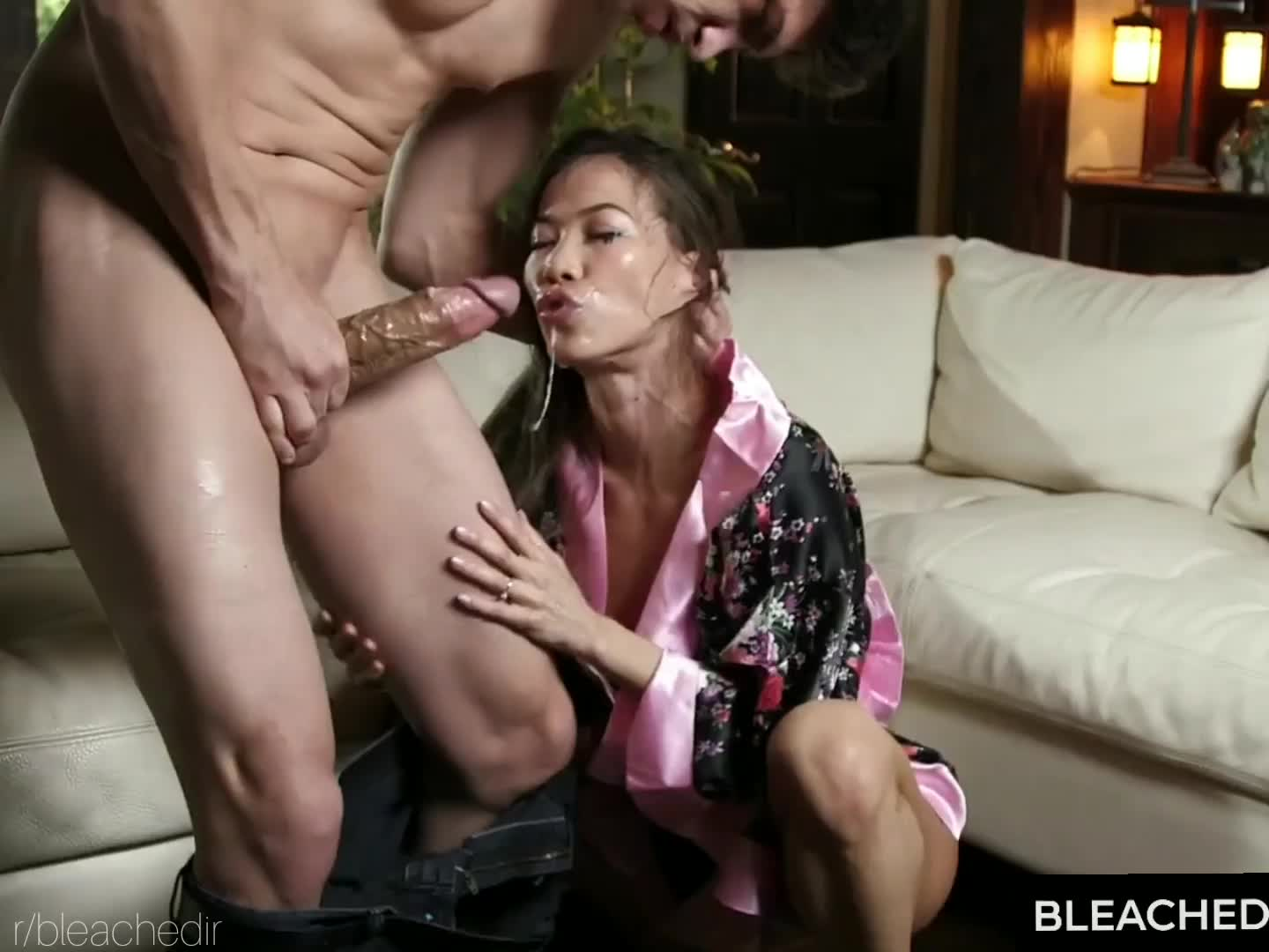 Asian Hot WIfe Kalina Ryu Gets a Sloppy and Aggressive Face Fuck by Bruce Venture