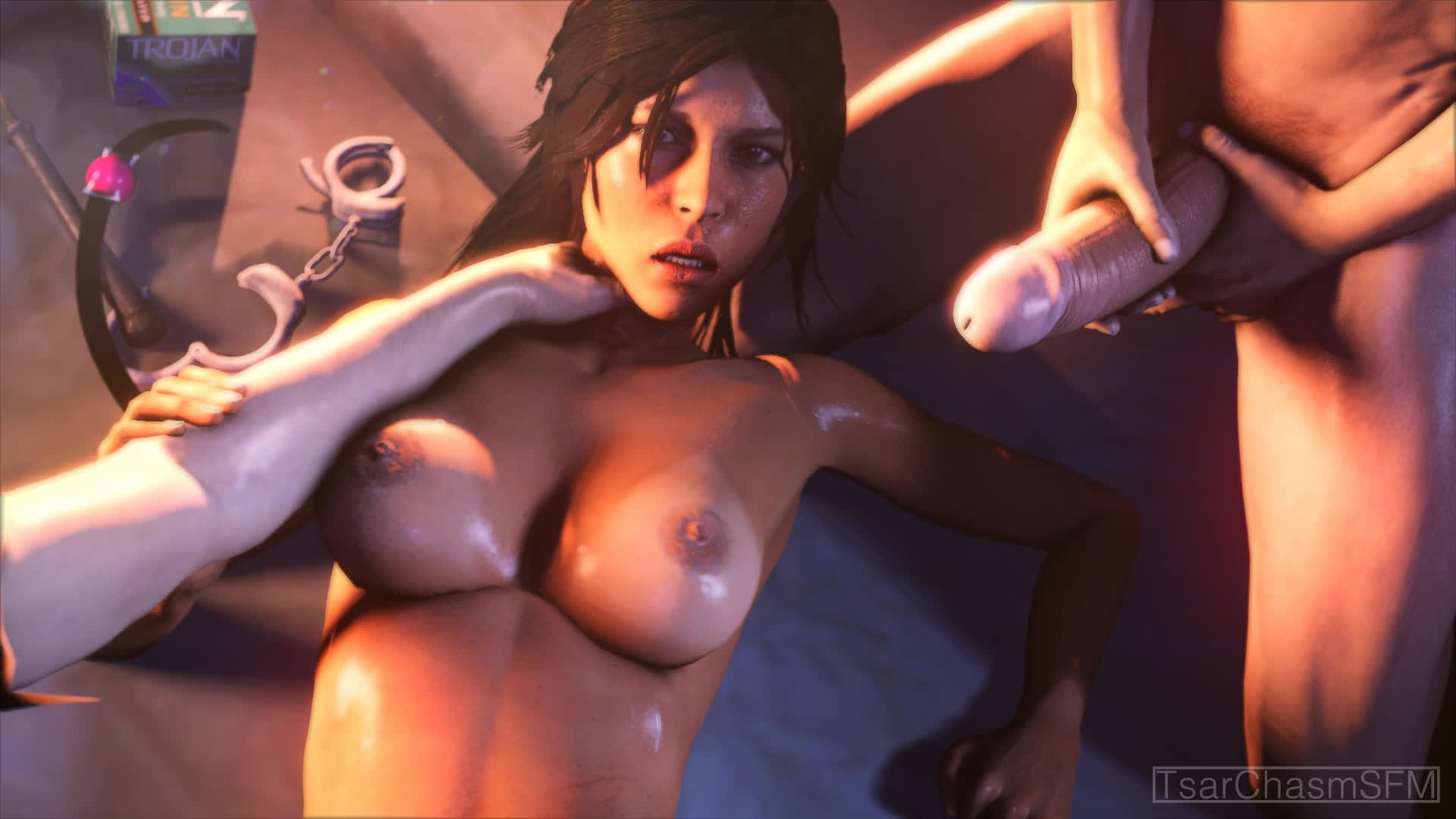 lara croft poster naked