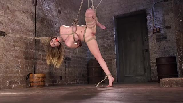 slavegirl gymnasts who fail to stick the landing are taught to balance themselves on one foot