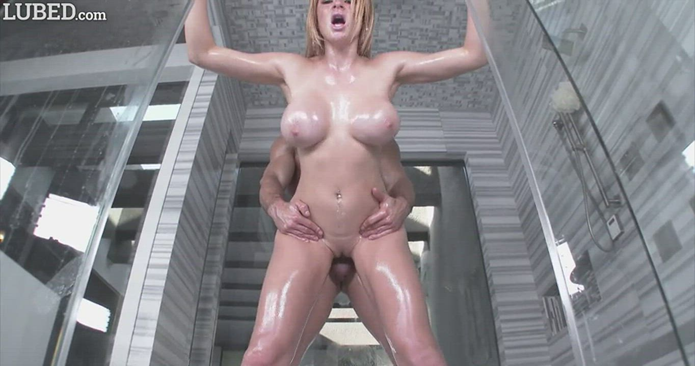 Oiled standing doggy