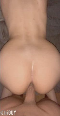 Barely lasted in this petite Latinas wet pussy