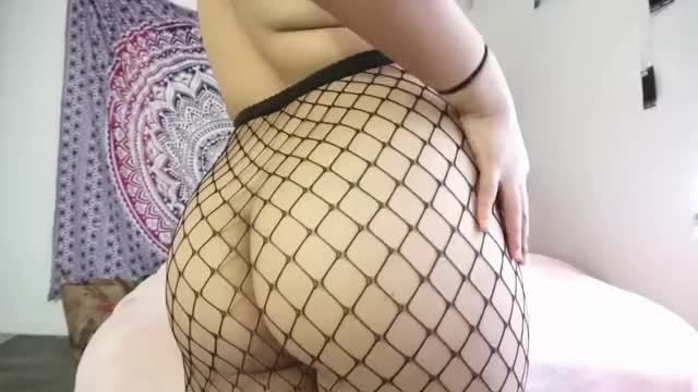 a very very very lengthy gif of my large booty in fishnets