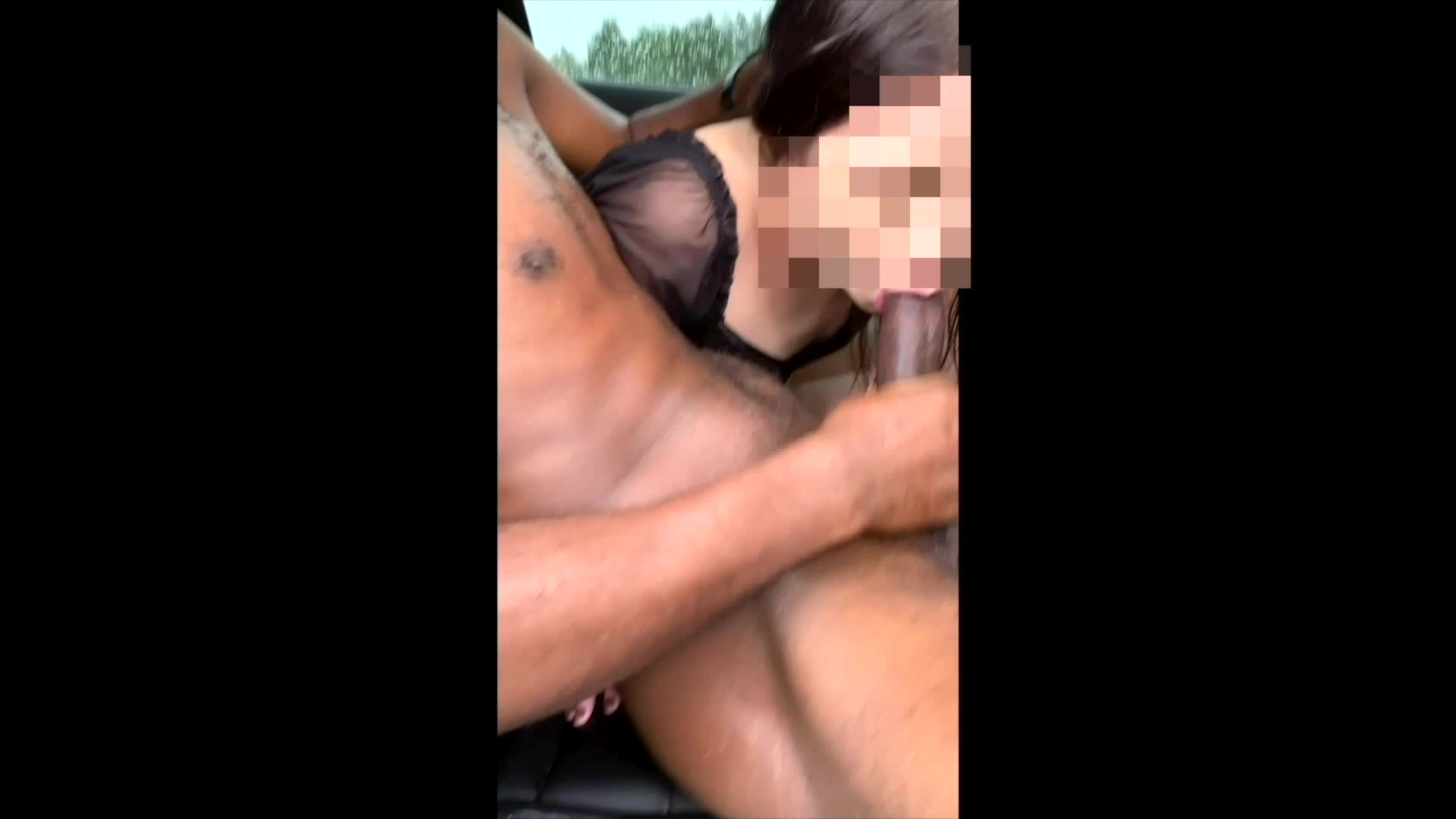 bbc cum in the backseat of the tesla road head