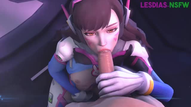 D.Va blowing a guy,