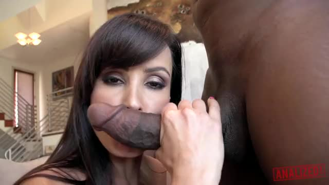 lisa Ann works the shaft and the head