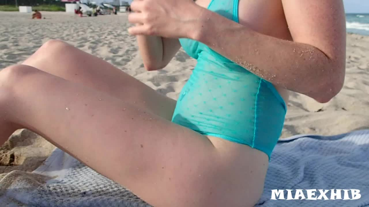 Getting naked on the beach