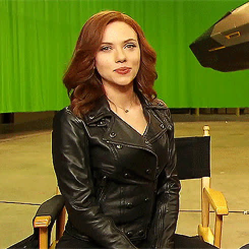 Scarlett Johansson waiting for you to jerk off to her