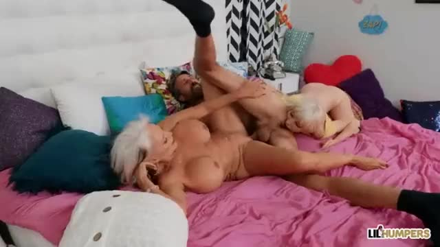 sally D' and Kenzie Reeves give some guy the royal treatment