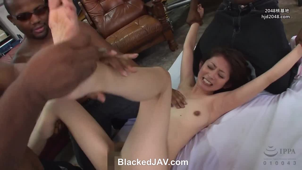 Japanese woman held down and tickled by 3 black guys