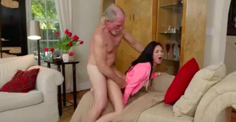 19yo Crystal's pussy worked out by old man