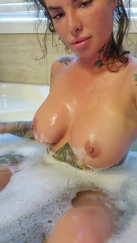 christy Mack and lots of foam