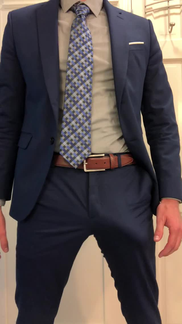 bulging in my blue suit