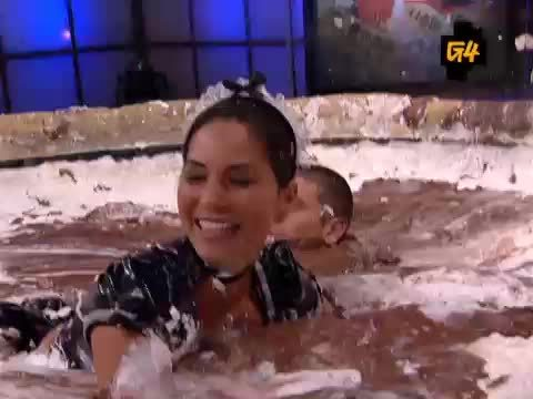 CelebGfys, OliviaMunn, Olivia Munn - French Maid Plot - Attack of the Show - More in Comments (reddit) GIFs