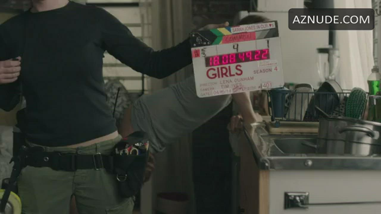 """Allison Williams - ass eating scene OUTTAKE (from """"Girls"""")"""