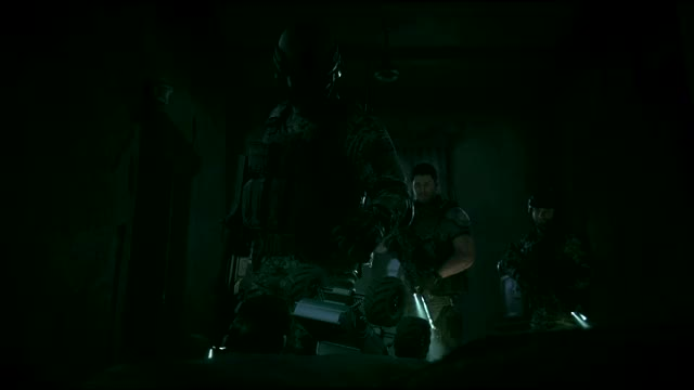Mexican Special Forces overrun by zombies (Resident Evil: Vandetta)