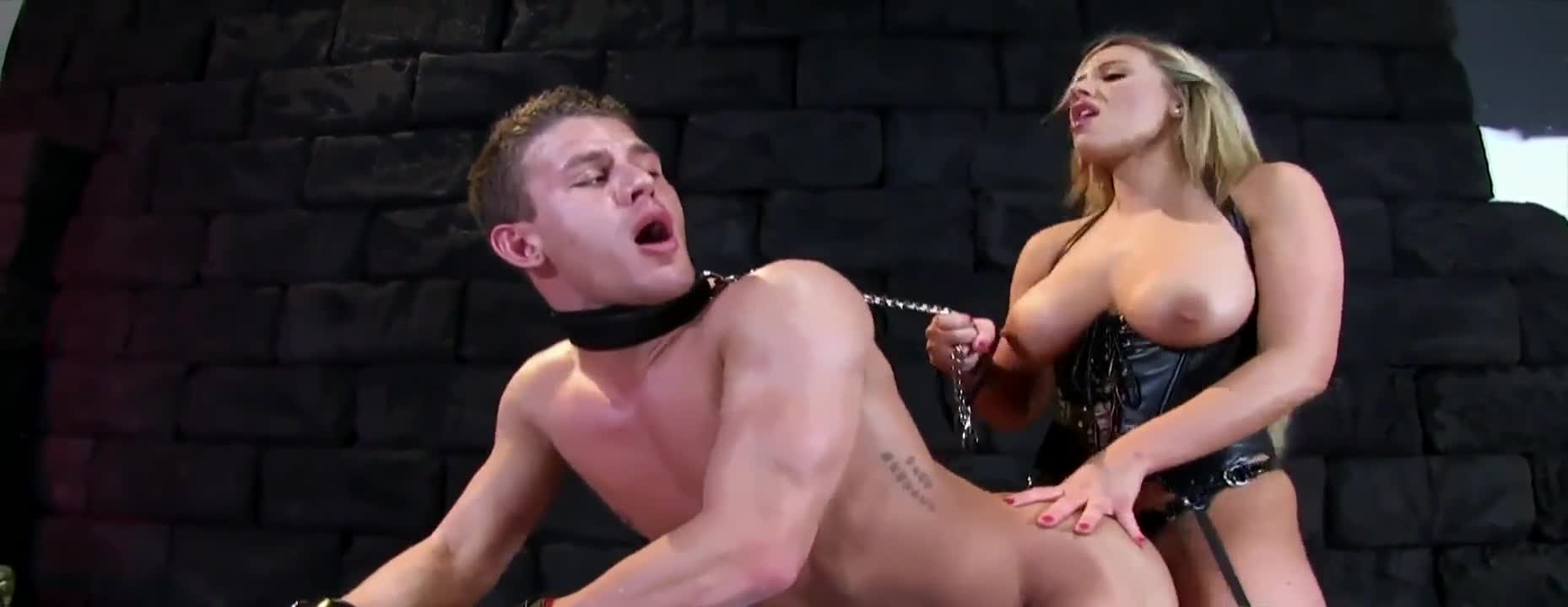 Collared, leashed, and fucked.