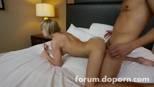 petite blond takes it in doggy