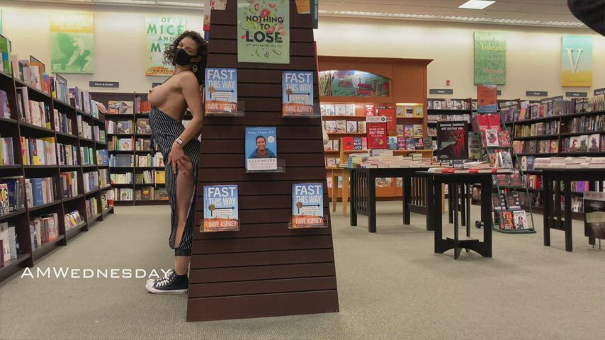 Flashing at the bookstore