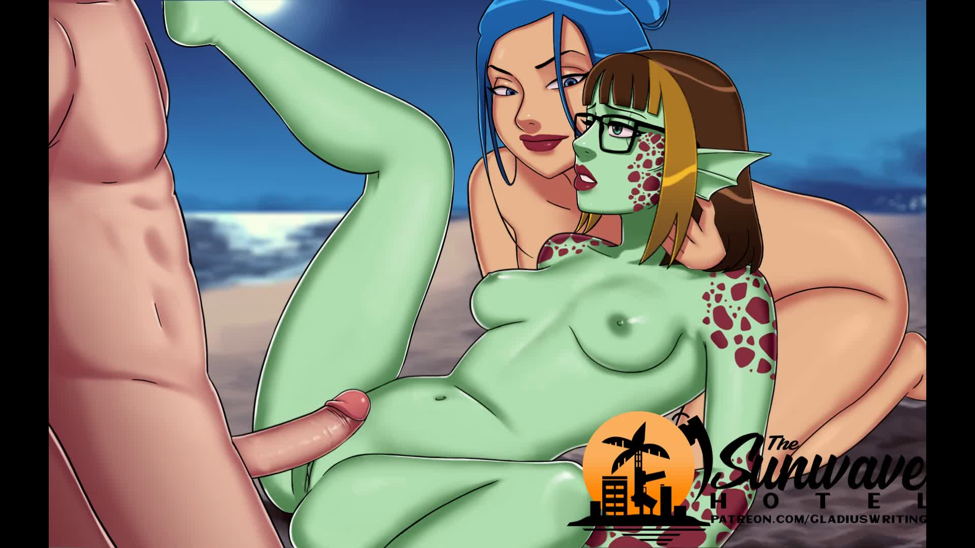 Sex on the beach with Alexis (Turtlegirl) and Kuhno (Anon) [Sunwave Hotel]