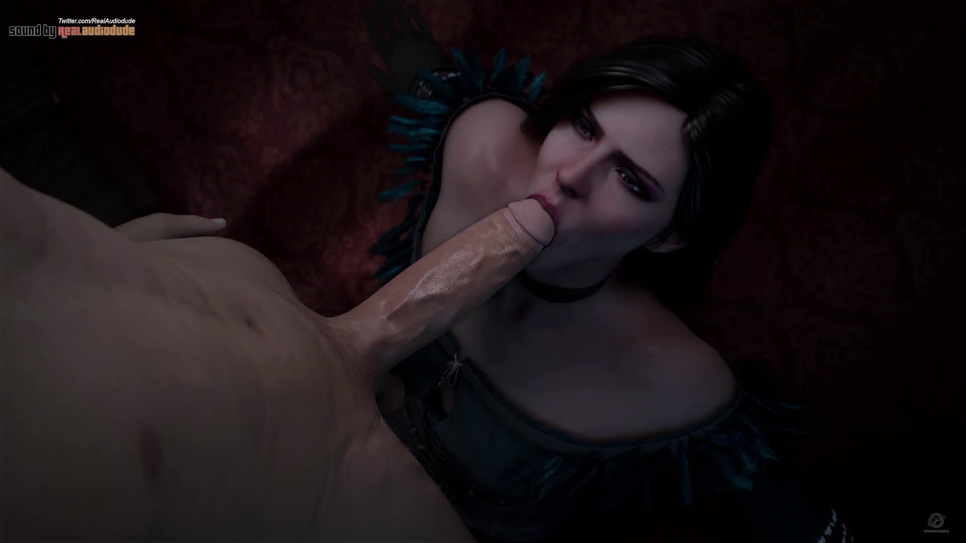 Yennefer is sucking huge cock (Sound) (Pewposterous, Audiodude)