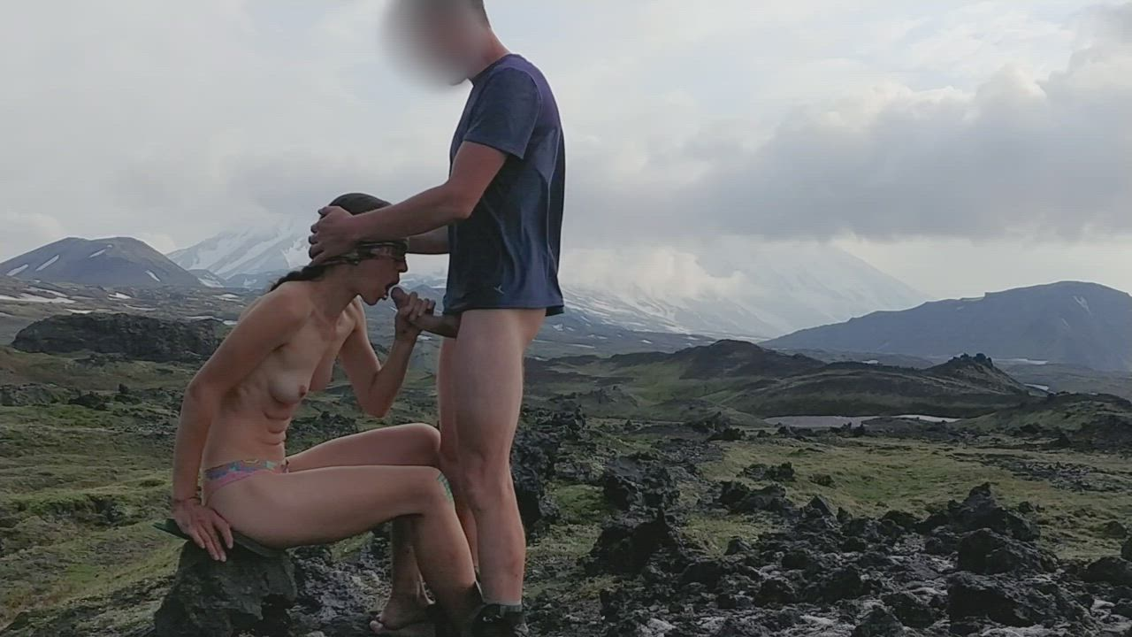 Mosquitoes Bit His Bare Ass While She Sucked His Cock