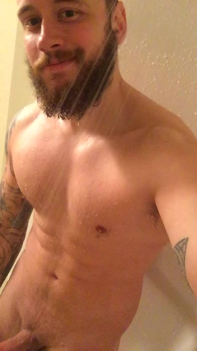 goofing around in the shower