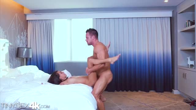 petite janice griffith riding a large dick