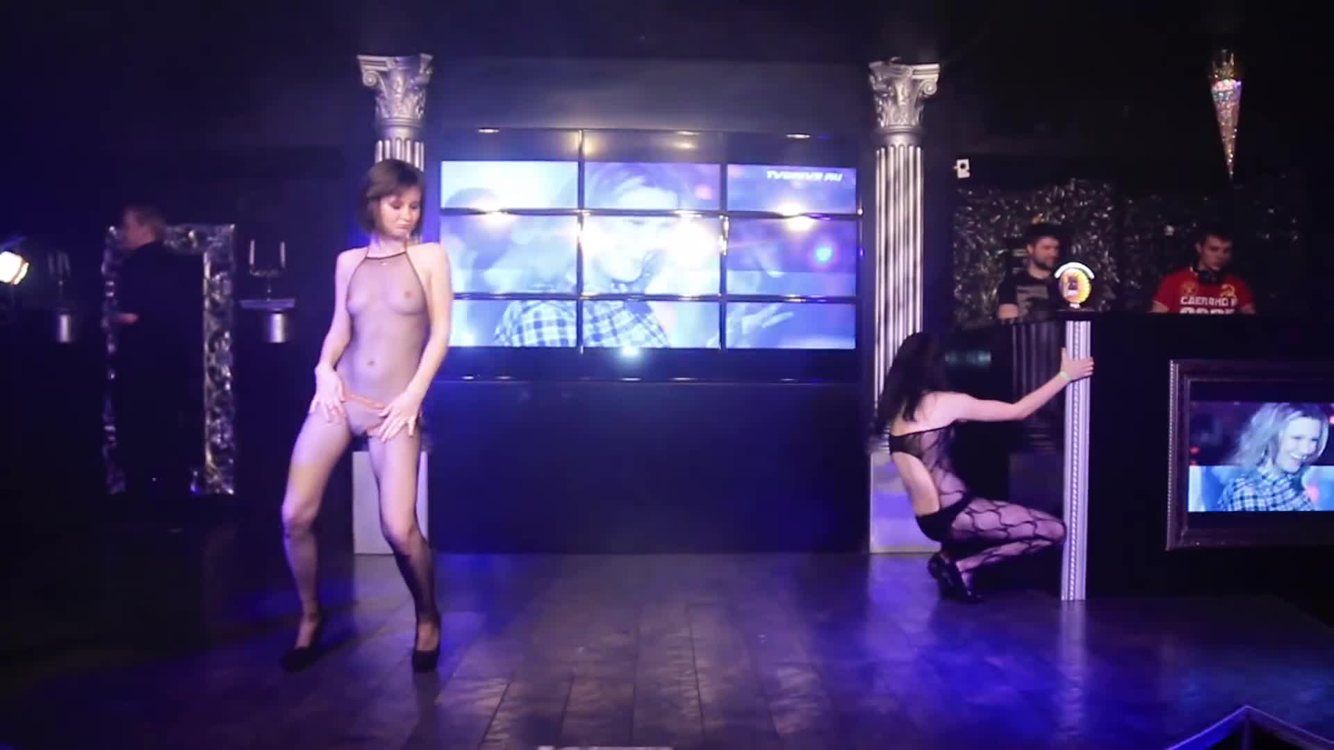 Skimpy outfits on the nightclub stage