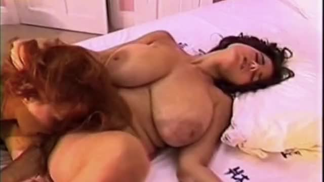 chloe Vevrier bouncing her large natural melons during hawt lesbo slit licking orgasm