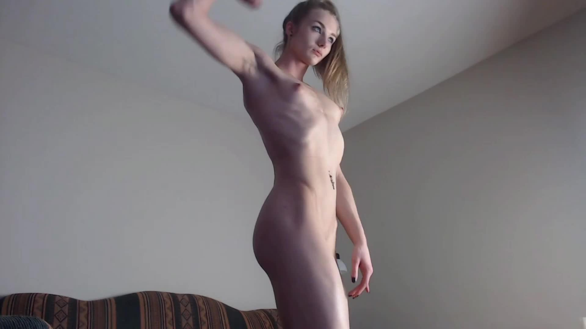 Blonde Cam Girl with Muscle Legs
