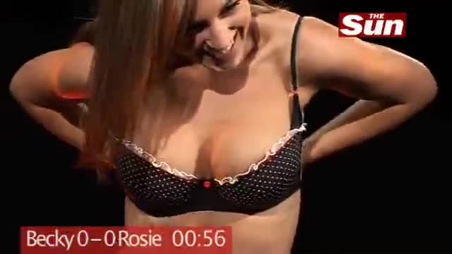 rosie Jones and Becky Rule set Guinness World Record for taking off bras