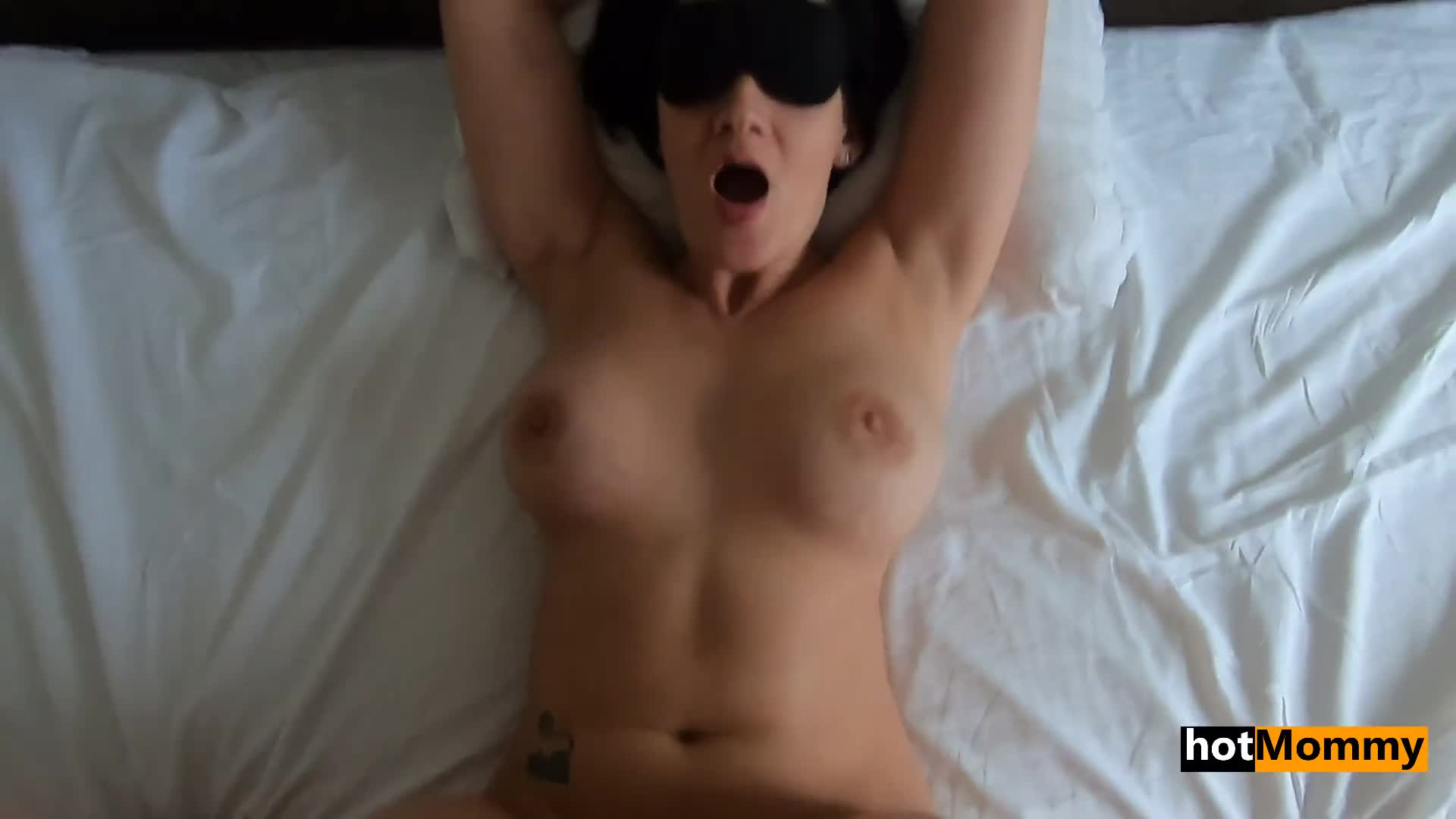 Sexy MILF handcuffed and fucked