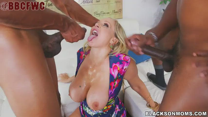 Julia gets two loads on her face
