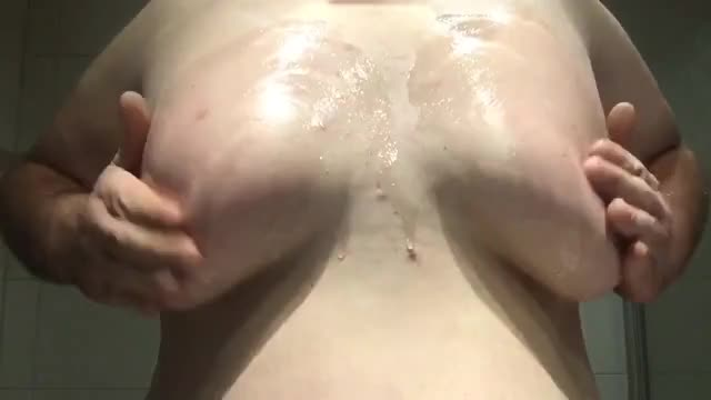 Fat Sissy Playing With Tits 2/3