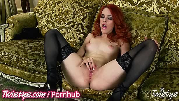 Amarna Miller's legs open and clit stimulation