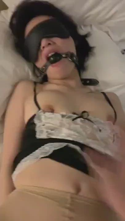 Asian BDSM Lingerie Pussy Porn GIF by chondven02