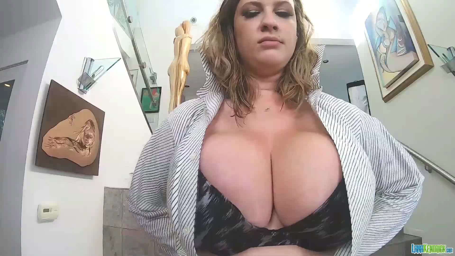 Her Tits Want Out Of That Bra
