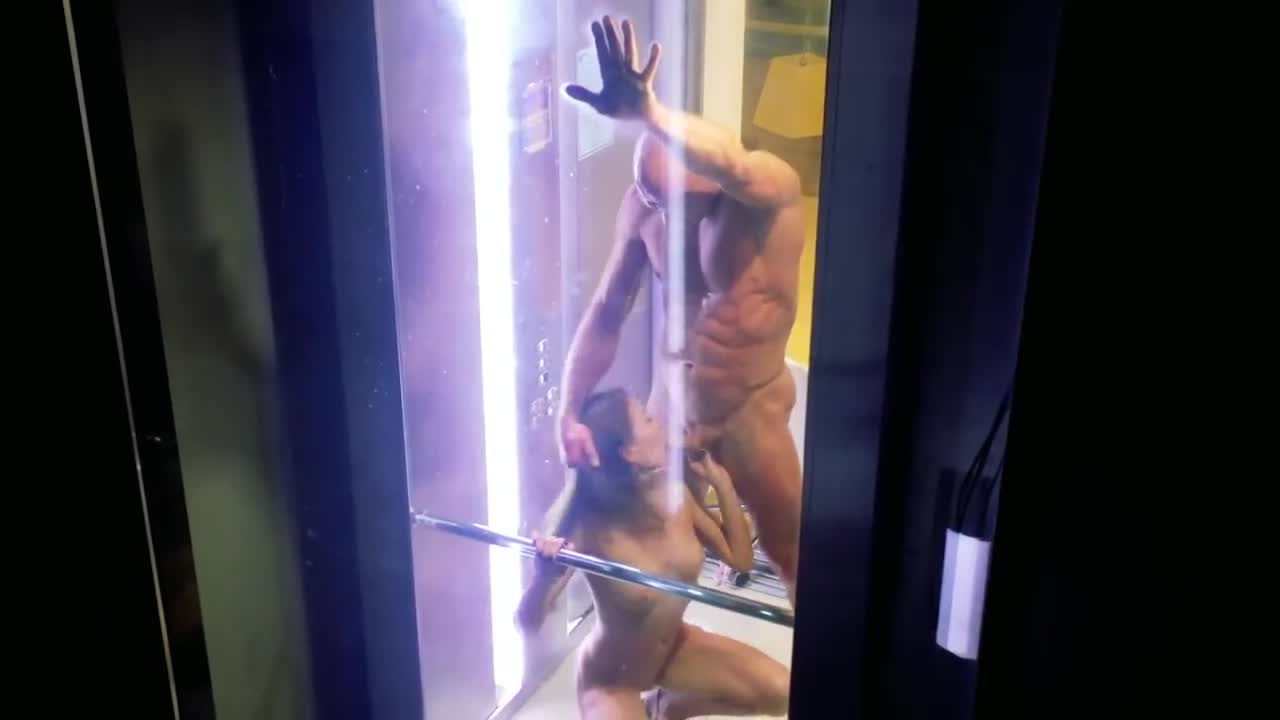 Elevator sex caught on tape