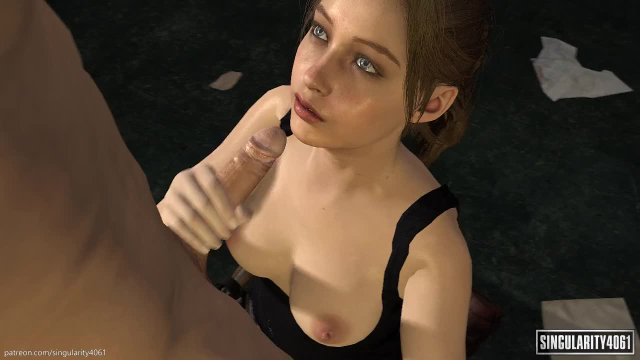 Claire Redfield Facial Cumshot [Resident Evil]