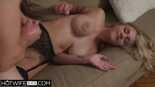 gabbie Carter grabs her boobs for a cum discharged