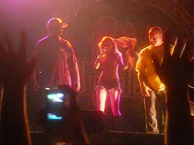 Myspace Celebrity Tila Tequila Takes of Her Top on Stage While Being Pelted with Water Bottles by Angry, Horny Jaggalos