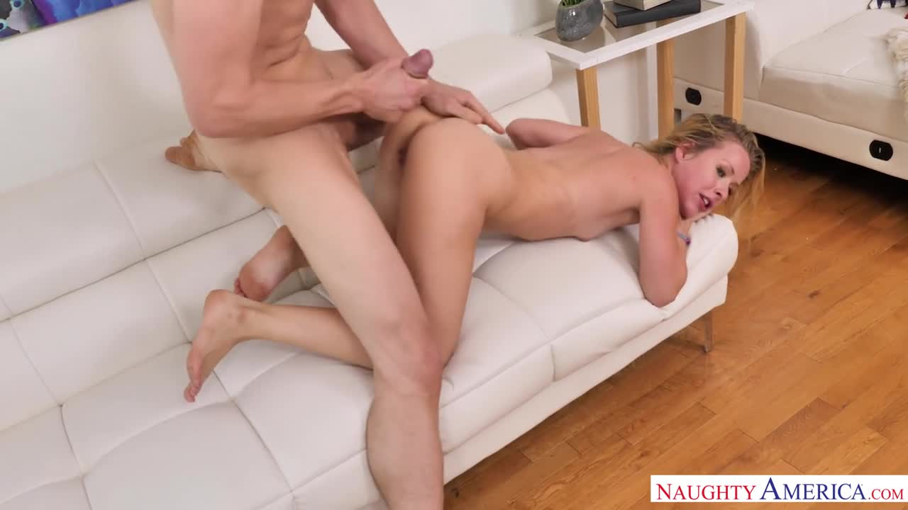 The way she spits his cum back on his cock, and licks it off. :-)