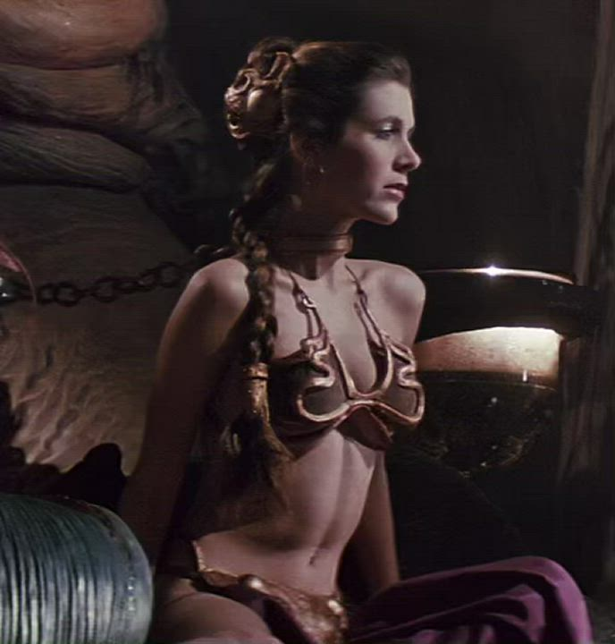Slave Leia is my favorite for so many reasons (Carrie Fisher)