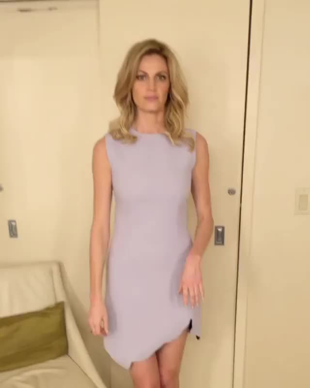 Very sexy Erin Andrews showing off her fashion in social media video