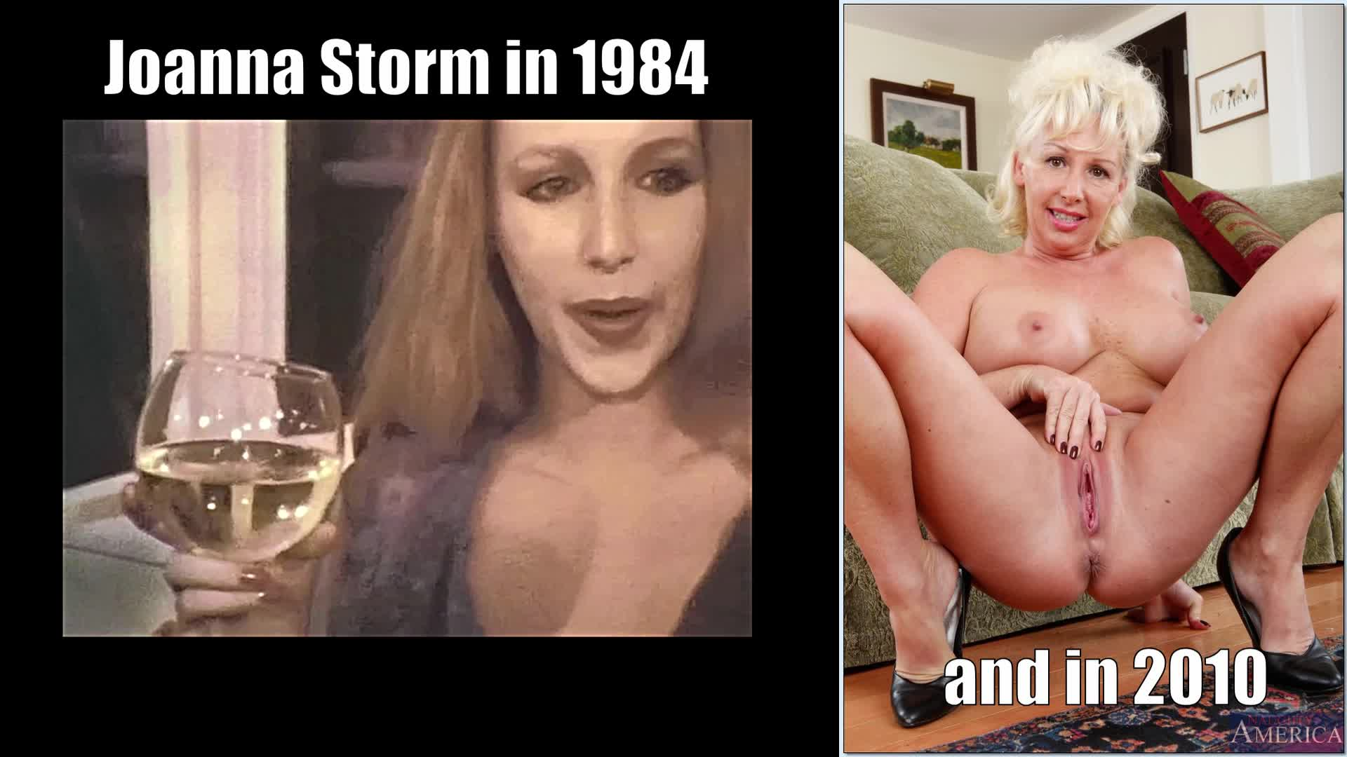 Joanna Storm in Dream Girls 3 (1984) and a shot of her in 2010
