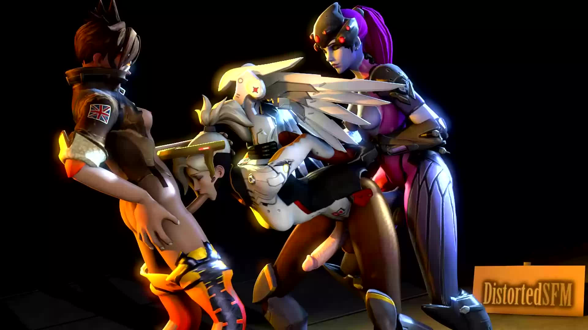 image Overwatch dva fucks herself after losing the game