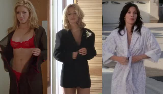 Courteney Cox, Brittany Snow and Britney Spears all flashing their hot bodies in bra and panties :)